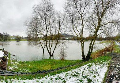 Guckheim unter Hochwasser