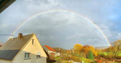 Regenbogen am 3. Februar 2021 in Guckheim