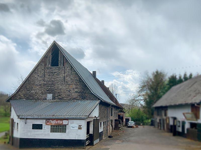 Bioladen Horn in Westert im Westerwald, zwischen Guckheim, Mähren und Härtlingen