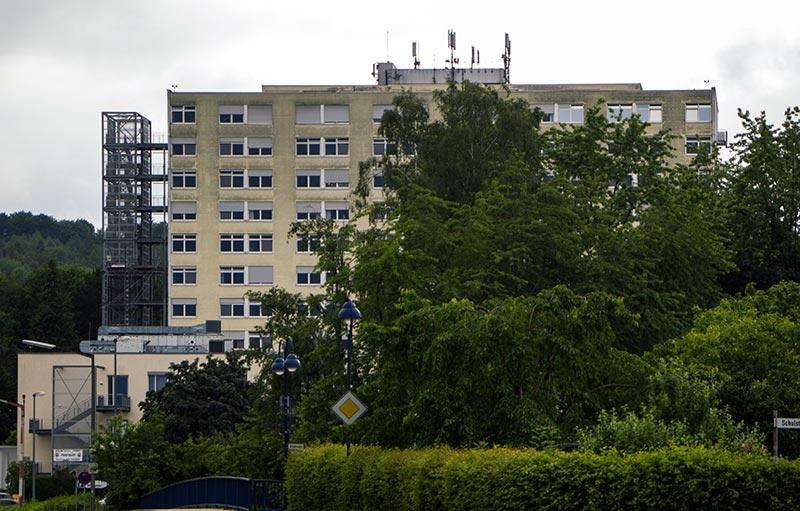 Mobilfunkanlage auf dem Dernbacher Krankenhaus